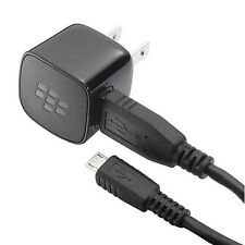 OEM HOME WALL CHARGER TRAVEL POWER ADAPTER USB CABLE WIRE for BLACKBERRY PHONES