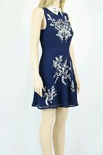 ASOS Embroidered Floral Sequin Mini Skater Dress With Collar UK SIZE 8