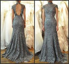 Full Length High Neck Lace Mermaid Bridesmaid Evening Prom Party Cocktail Dress