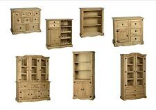 Seconique Corona Dining Room - Solid Mexican Pine Units Sideboard Cabinets