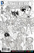DC TEEN TITANS #16 ADULT COLOURING BOOK VARIANT