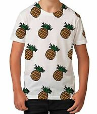 Pineapple Cartoon Fruit Food Summer Tropical Boys Unisex Kids Child T Shirt