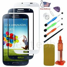 Replacement Front Touch Screen Glass Lens/Tool/UVGlue For Samsung Galaxy S4 AT&T