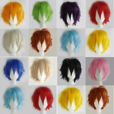Unisex Anime Fashion Short Cosplay Wig Synthetic Party Straight Full Wigs USA