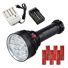 22000LM 16*CREE XM-T6 LED Rechargeable Flashlight Torch Hunting Lamp 6x18650+CH