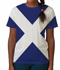 Scotland Flag Patriotic Scottish St Andrews Cross Girl Unisex Kids Child T Shirt