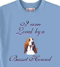 T Shirt Big Dog I am Loved by a Basset Hound 5 Colors # 588 Men's Women Adopt