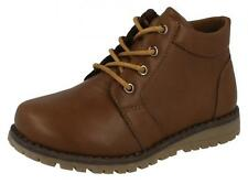 Boys Brown Lace Up Ankle Boot - N2042