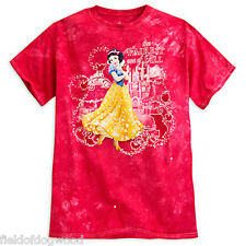 NWT Disney store Women Snow White Tie-Dye T Shirt Top Small Medium Princess