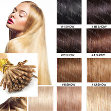 """100/200S 18""""20""""22""""Pre bonded Keratin Stick Tip /I 100% Remy Human Hair Extension"""