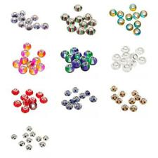 10Pcs Silver MURANO GLASS BEAD LAMPWORK fit European Charm Bracelet Women