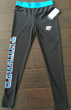 New Womens NBA 4 Her By UNK OKC Thunder Performance Workout Leggings Pants