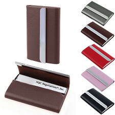 Luxury Unisex Leather ID Credit Card Business Cards Holder Case Wallet HQ & NEW!
