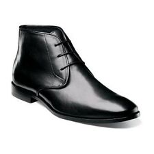 Florsheim Mens Boot Chukka Black Euro style smooth Leather Lace up  14125-001