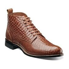 Stacy Adams Mens Madison Ankle Boot High Toe Tan  Anaconda print Leather 00057