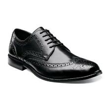 Nunn Bush mens shoes Nelson Black Leather Wing tip oxford Lace Up  84525-001