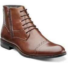 Stacy Adams Mens Boot Godfrey Cognac Leather Lace up Dressy Casual 24990-221