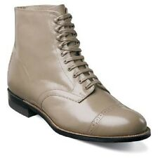 Stacy Adams Mens Madison  Ankle Boot Biscuit Cap Toe Lace Up Leather 00015 Taupe