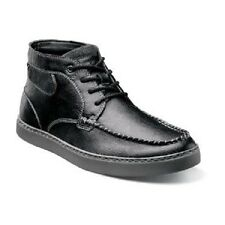 Stacy Adams Mens Trickster Moc Toe Chukka Boot Black Leather unique 53419-001