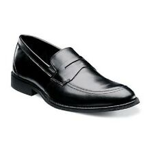 Stacy Adams mens shoes Roswell Black Leather Moc toe slip-on 24970-001