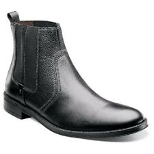 New Stacy Adams Mens Boot Carnaby Black Tumbled Plain Toe Leather 24908-007