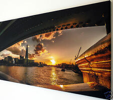 LONDON SKYLINE SUNSET WALL ART CANVAS PICTURE LARGE 18