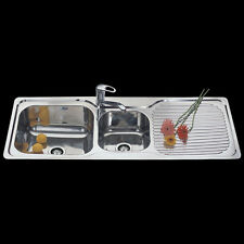 Stainless Steel 1&1/2 Bowl Kitchen Sink With Drainer D1230D