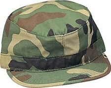 Woodland Camouflage Kids Military Fatigue Cap