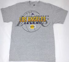 Official NBA Licensed LOS ANGELES LAKERS adidas gray T-shirt