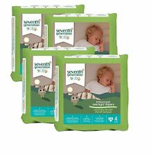 Seventh Generation Free & Clear Overnight Diapers Choose Your Size Pack of 4
