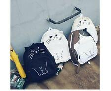 2016 Autumn Winter New Casual Canvas Girls' Backpacks Bookbags Sweet Funny Cat