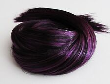 MIDNIGHT Saran Doll Hair for OOAK/Reroots Suit Monster High etc