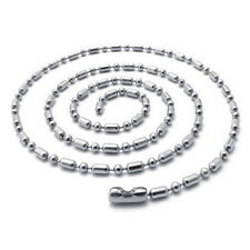 Wholesale 24/50/100 2.4mm 316L Stainless Steel Ball & Oval Bead Chain Necklaces