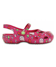 NEW Girls CROCS Hello Kitty Apples Shayna Mary Jane Flat Shoes Toddler 8 9 10 11