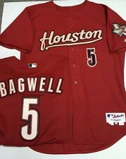 JEFF BAGWELL ASTROS AUTHENTIC BRICK RED TEAM ISSUE JERSEY MAJESTIC ALTERNATE NEW