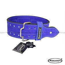 New Genuine Leather Power Weight Lifting Belt Leather Quick Release Buckle Belt