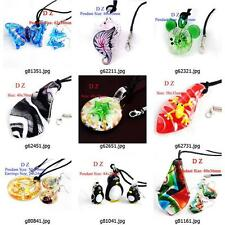 g814p18 Fashion Animal Lampwork Glass Murano Bead Pendant Necklace Earrings set