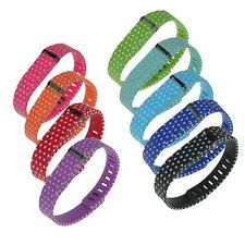 Small / Large Replacement Wrist Band Wristband Polka Dot Print for Fitbit Flex