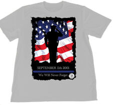 September 11th Law Enforcement We Will Never Forget Wicking T-Shirt Car Coaster