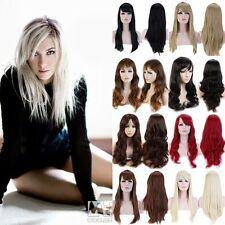 New style black Fashion Long straight women's Girl full Hair Wig cosplay