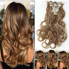"US Human Clip In Hair Extension 17/23/24/26"" Full Head Heat Resistant Hair  T78"