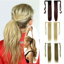 Clip In Hair Extension Wrap Around Clip on 100% Ponytail Hair Curly Natural H712