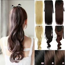 100% Real Clip In human Hair Extension Pony Tail Drawing Ponytail As Human H824