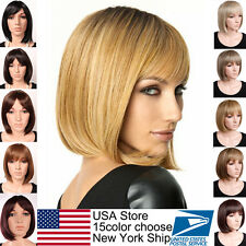 Multi Colors Bob Full Wig Vogue Lady Women Short Hair Wigs Daily Party use Red L