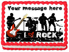 ROCKSTAR MUSIC BAND Image Edible cake topper decoration