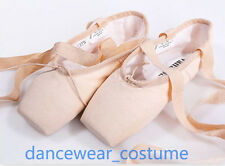 New Canvas Professional Ballet Pointe Shoes Ladies Girls Dance Toe Shoes 31-40W