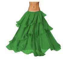 Women 3 Layer Skirt For Belly Dance Tribal Skirt GYSPSY  Long Waist Elasttic