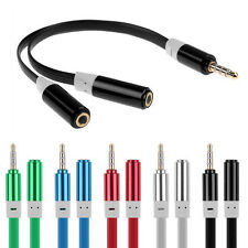 Practical 3.5mm Jack 1 Male to 2 Female Splitter Earphone Headphone Audio Cable