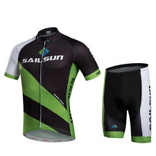 Green Black Cycling Jersey Sets Bibs/shorts set Bicycle Bike Clothing Sportswear