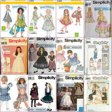 OOP Daisy Kingdom Simplicity Sewing Pattern Girls Childs Toddler Size You Pick